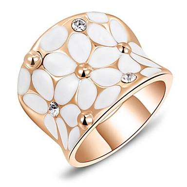 Κρίκοι Καθημερινά / Causal Κοσμήματα Επιμεταλλωμένο με Πλατίνα Γυναικεία Εντυπωσιακά Δαχτυλίδια6 / 7 / 8 Τριανταφυλλί