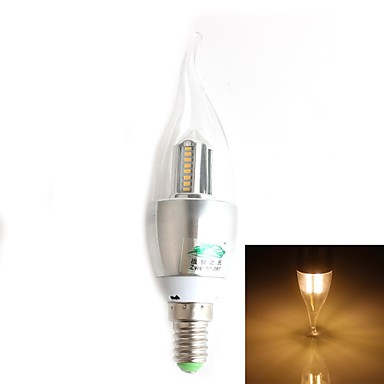 e14 οδήγησε κεριά φως ca35 32 smd 3014 280lm ζεστό λευκό 3000-3500k διακοσμητικά ac 220-240v