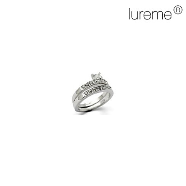 anillo de diamante tachonado lureme®crystal