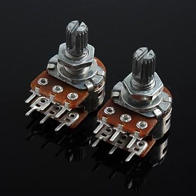 wh148 dublu potențiometru uniune 6 pini 15mm mâner lung - 100K (2 buc)