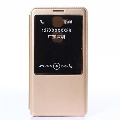 hoesje Voor Huawei Huawei Mate 7 Huawei hoesje met standaard met venster Automatisch aan / uit Flip Volledig hoesje Effen Kleur Hard