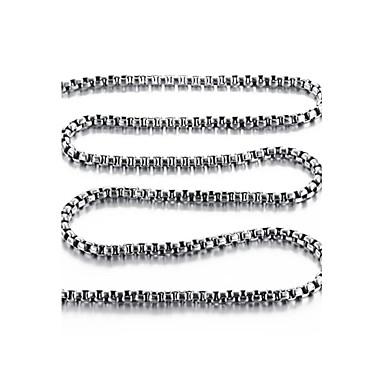 ieftine Coliere-Bărbați Lănțișoare Oțel titan Argintiu Coliere Bijuterii Pentru Nuntă Petrecere Zilnic Casual Sport