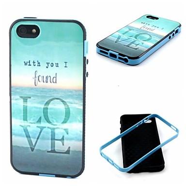 αγαπούν τη θαλάσσια μοτίβο πίσω κάλυψη περίπτωση iphone5 / 5s iphone περιπτώσεις
