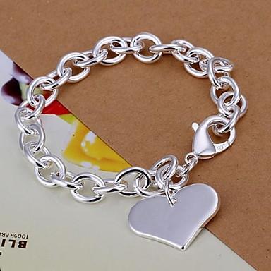 Damen Bettelarmbänder - versilbert Herz, Liebe Armbänder Silber Für Weihnachts Geschenke Hochzeit Party