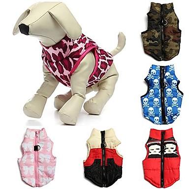 Pisici Câine Haine Γιλέκο Îmbrăcăminte Câini Nod Papion camuflaj Albastru Roz Roșu / alb Bumbac Costume Pentru Iarnă Bărbați Pentru femei Casul / Zilnic