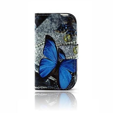 Para Porta-Cartão / Carteira / Com Suporte / Flip / Estampada Capinha Corpo Inteiro Capinha Borboleta Rígida Couro PU Samsung Trend Lite