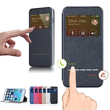 smart voorruit pu lederen flip case voor de iPhone 6 plus