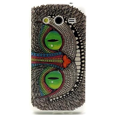 groene ogen uil patroon ontwerp duurzaam TPU beschermhoes voor samsung galaxy kern 2 g3556d