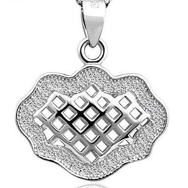 925 prata com diamante escavar pendant bloqueio sorte