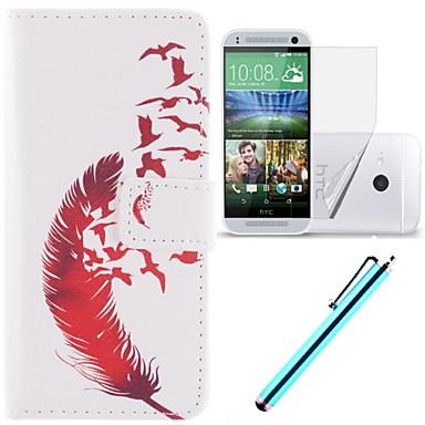 Para Capinha HTC Porta-Cartão / Carteira / Com Suporte / Flip Capinha Corpo Inteiro Capinha Pena Rígida Couro PU HTC