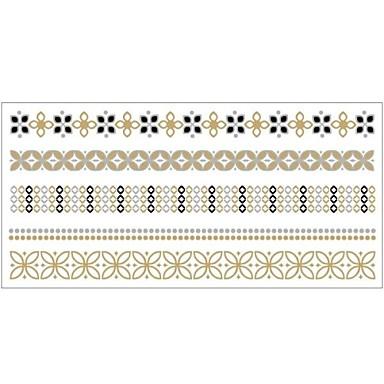 Tatoeagestickers - Patroon - Sieraden Series - voor Dames/Girl/Volwassene/Tiener - Goud - Papier - #(1) - stuks #(20x10)
