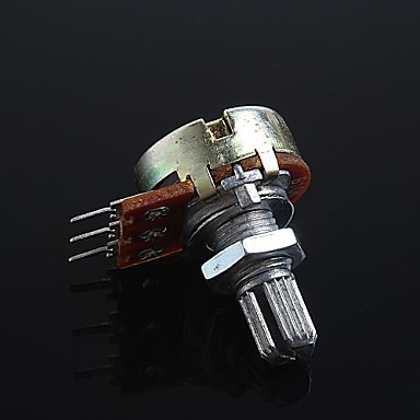 Gitar / bas için 3-pinli b10k ses kontrolü potansiyometresi (2 adet)