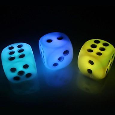 πολύχρωμο σχήμα αλλάζει χρώμα ζάρια οδήγησε τη νύχτα φως