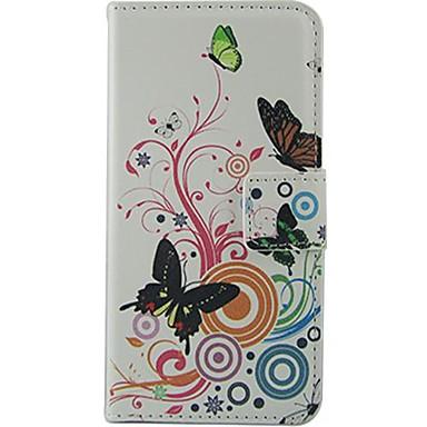 Για Θήκη Nokia Πορτοφόλι / Θήκη καρτών / με βάση στήριξης tok Πλήρης κάλυψη tok Πεταλούδα Σκληρή Συνθετικό δέρμα Nokia Nokia Lumia 630