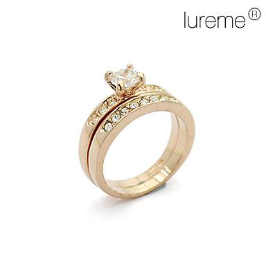 diamant besat forgyldt ring (golden)