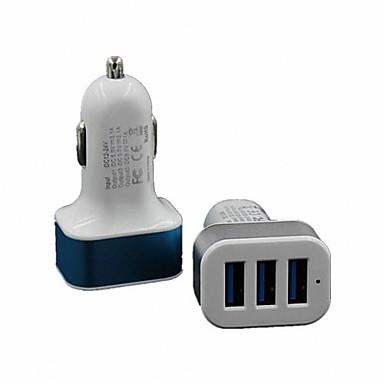 Οικιακός φορτιστής Φορητός φορτιστής Φορτιστής USB τηλεφώνου Πολλαπλές θύρες 3 θύρες USB 2.1A 1A DC 12V-24V Για iPad Για κινητό τηλέφωνο