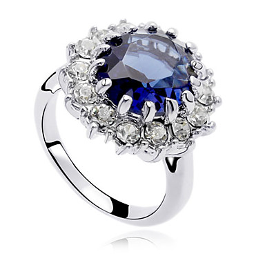 Γυναικεία Εντυπωσιακά Δαχτυλίδια Κρυστάλλινο Πολυτέλεια Μοντέρνα Ζιρκονίτης Cubic Zirconia Κράμα Κοσμήματα Πάρτι