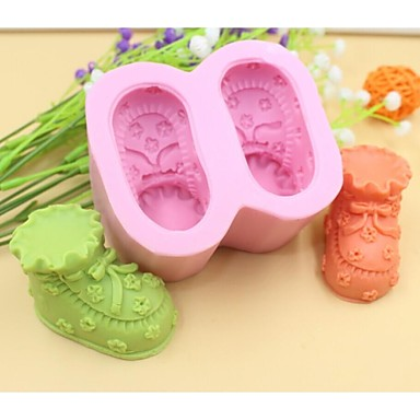 baby schoenen vormige fondant cake chocolade siliconen mal taart decoratie gereedschappen, l8.5cm * w7.2cm * h4.5cm