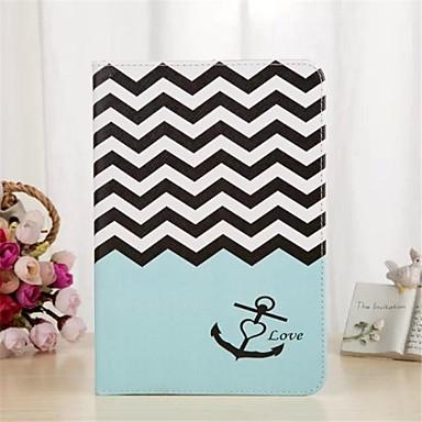 Pouzdro Uyumluluk iPad Mini 3/2/1 Kart Tutucu Satandlı Tam Kaplama Kılıf Çizgiler / Dalgalar PU Deri için iPad Mini 3/2/1