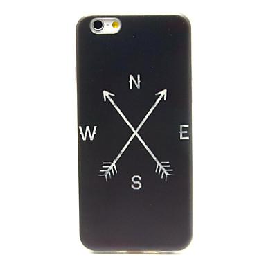 Για Θήκη iPhone 6 / Θήκη iPhone 6 Plus Με σχέδια tok Πίσω Κάλυμμα tok Ασπρόμαυρο Μαλακή TPU iPhone 6s Plus/6 Plus / iPhone 6s/6