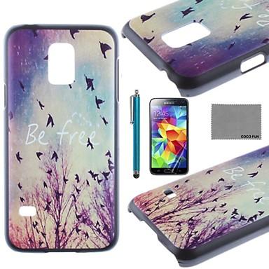 Voor Patroon hoesje Achterkantje hoesje Landschap Hard PC Samsung S5 Mini