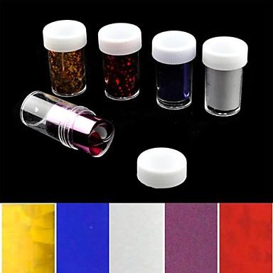 5pcs laser folie nageldecoratie sterrenhemel nagel stickers (150x4x0.1cm)