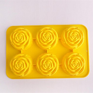 6 holes steeg vorm taart ijs gelei chocolade mallen, siliconen 27,5 × 18 × 3,6 cm (11,8 × 7,1 × 1,4 inch)