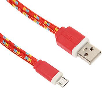 Micro USB 2.0 / USB 2.0 Kabel <1m / 3ft Gevlochten Nylon USB kabeladapter Voor