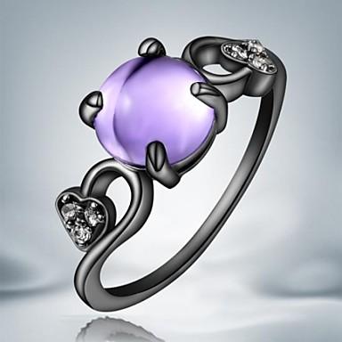 Κρίκοι Καθημερινά / Causal Κοσμήματα Κράμα Γυναικεία Εντυπωσιακά Δαχτυλίδια8 Μαύρο