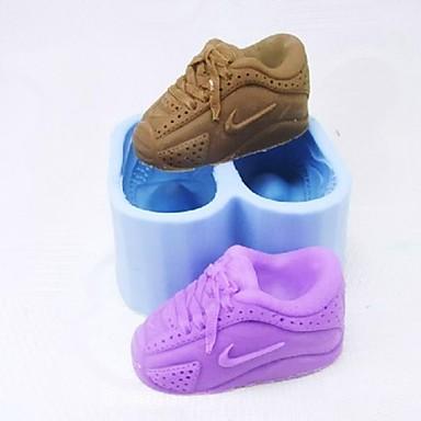 Paar Schuhe Fondant Schokoladenform Kuchenform Backen Werkzeug
