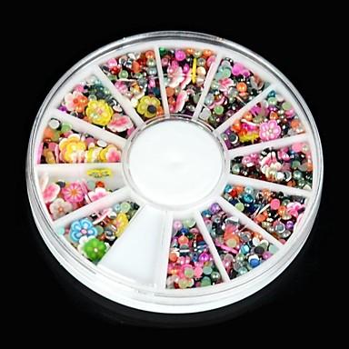 1 Κοσμήματα νυχιών Σετ διακόσμησης Λουλούδι Κινούμενα σχέδια Μοντέρνα Lovely Υψηλή ποιότητα Καθημερινά