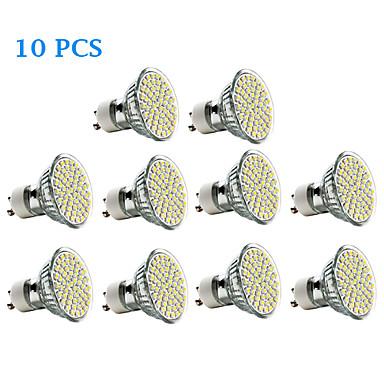 3 W 300-350 lm GU10 LED Σποτάκια 60 leds SMD 3528 Θερμό Λευκό Ψυχρό Λευκό AC 220-240V