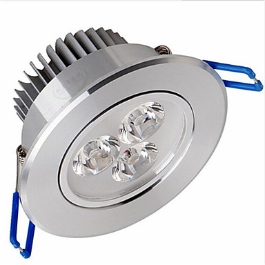Tavan Işıkları Panel Işıkları Gömme Uyumlu 3 led SMD 2835 Kısılabilir Sıcak Beyaz 500-550lm 3000-3500K AC 220-240V