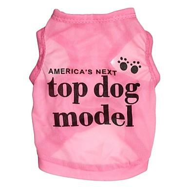 honden / katten T-shirt Roze Lente/Herfst Letter & Nummer