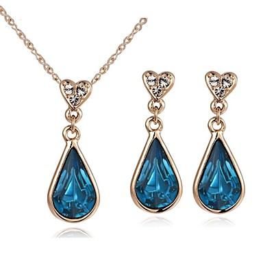 Cristal High Crystal Seturi de bijuterii Picătură femei Cristal cercei Bijuterii Auriu / Argintiu Pentru Nuntă Petrecere Casual / Cercei / Coliere