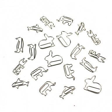 criativo pequenos animais formato de papel 16 pcs estilo aleatório