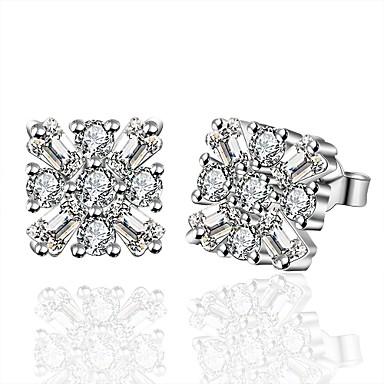 Pentru femei Fete Cercei Stud Cristal Geometric Argilă Square Shape Bijuterii Pentru Nuntă Petrecere Zilnic Casual