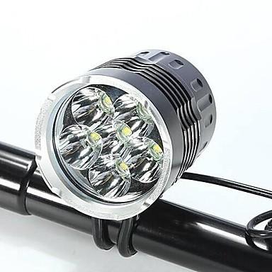 LED Lumini de Bicicletă Iluminat Bicicletă Față Becul farurilor XM-L2 T6 Ciclism Rezistent la apă Rezistent la Impact Reîncărcabil 18650 Baterie Camping / Cățărare / Speologie Utilizare Zilnic