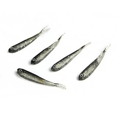 5 Stück Weiche Fischköder / Gummifische Angelköder Weiche Fischköder / Gummifische Silikon Seefischerei Köderwerfen Bootsangeln /