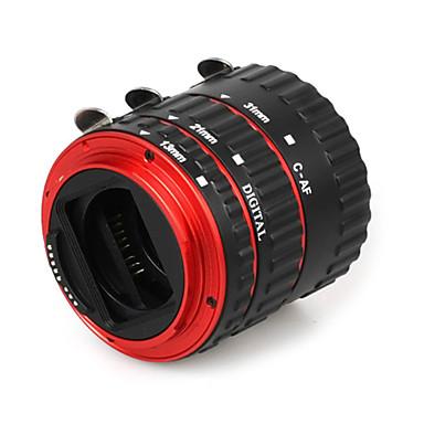 Canon EOS EF ef-s 60d 7d 5d ii 550D için renkli metal, elektronik ttl otomatik odak af makro uzatma tüpü halka