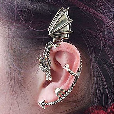 Γυναικεία Χειροπέδες Ear - Βίντατζ, Μοντέρνα Ασημί / Καφέ Για Καθημερινά