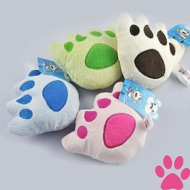 Kattenspeeltje Hondenspeeltje Huisdierspeeltjes Pluche speelgoed Voetafdruk Textiel
