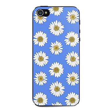caso difícil padrão crisântemos azul e branco para iPhone 5 / 5s