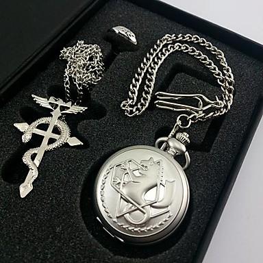 Erkek Kadın's Quartz Cep kol saati Hediye Klasik Alaşım Metal Bant Geleneksel / Eski Tip Gümüş