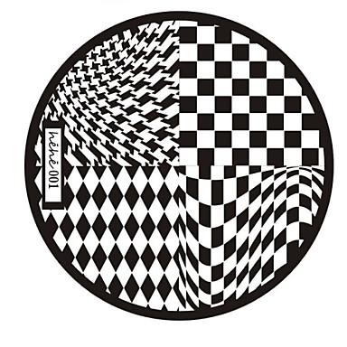 nail art carimbo de imagem carimbar placa template série hehe no.1
