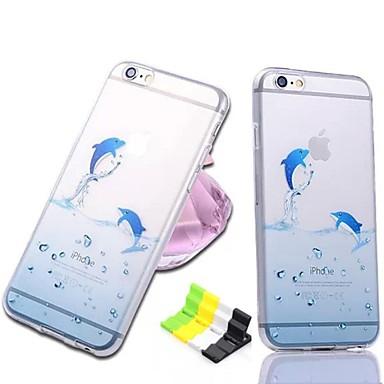 Pouzdro Uyumluluk Apple iPhone 6 iPhone 6 Plus Şeffaf Temalı Arka Kapak Hayvan Yumuşak TPU için iPhone 6s Plus iPhone 6s iPhone 6 Plus