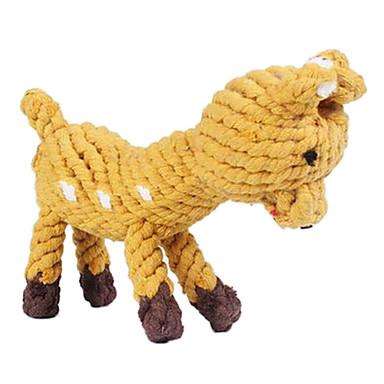 Hunde Spielzeuge Haustierspielsachen Kau-Spielzeug Seil / Hirsch Gewebe Braun