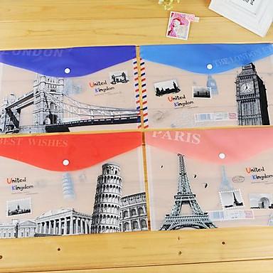 μέρη του κόσμου πλαστική τσάντα φάκελο Α4 (1 τεμ τυχαία χρώμα)