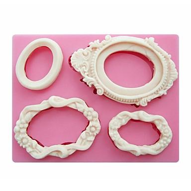 fondan silikon kalıp sabun mum kalıpları şeker zanaat pasta dekorasyon araçları sm-249 şeklinde ayna çerçeveleri