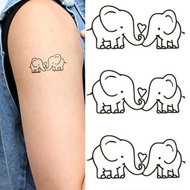 1 não tóxica Lombar Á Prova d'água Séries Animal Tatuagens Adesivas